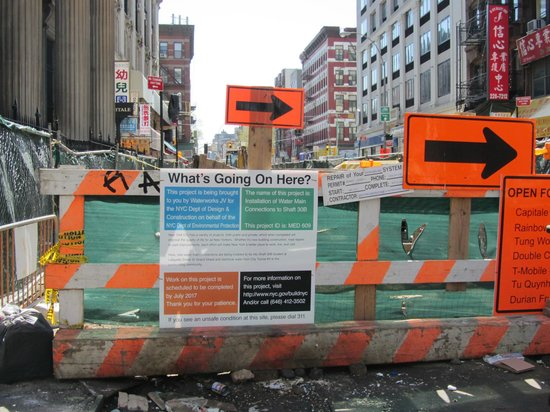 BEST WESTERN Bowery Hanbee Hotel: Construction on Grand St during my stay