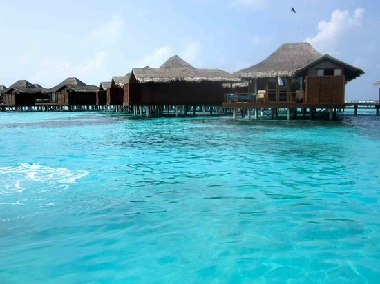 Anantara Dhigu MaldivesResort: over-water bungalows