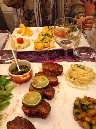 Les lavandes : canard con salsa all anice e pollo agli agrumi