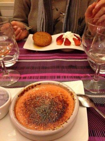 Les lavandes : crem brule alla rosa  e babba al genepi favolosi
