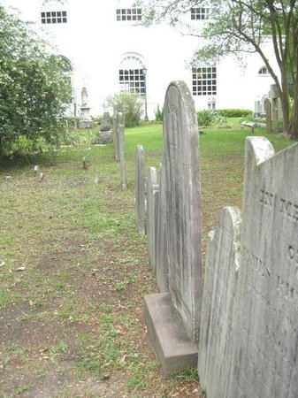 St. Michael's Church: A row of grave markers