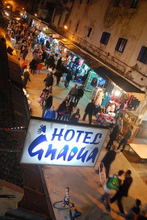 Hotel Gnaoua: night lights