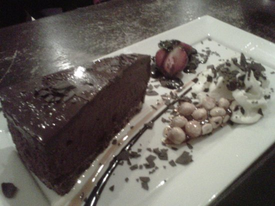 black spoon bistro : Chocolate hazelnut mousse cake