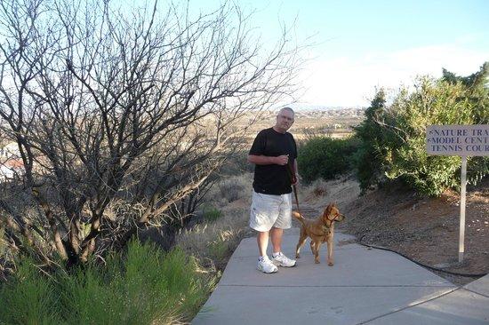 Esplendor Resort at Rio Rico: Walking the dog, resort style