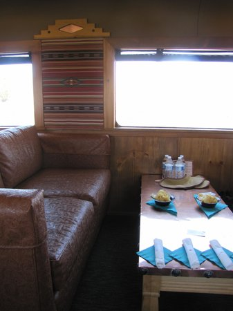 Verde Canyon Railroad: 1st class car interior