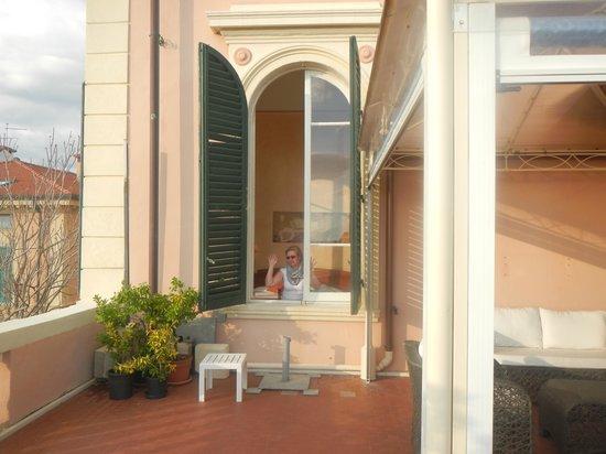 Hotel Italia: Belle terrase