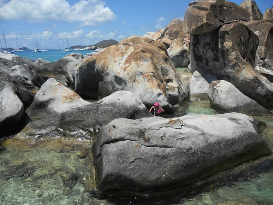 The Baths: Climbing the boulders