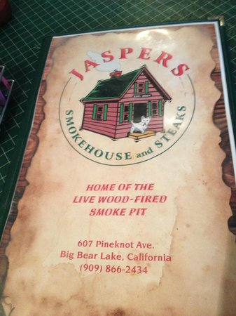 Jaspers Smokehouse & Steaks: Menu