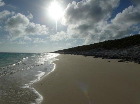 Pigeon Cay Beach Club: Hermosa playa, la arena es preciosa y el mar tan transparente
