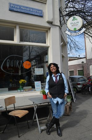 Christine, owner/manager of Quirky.