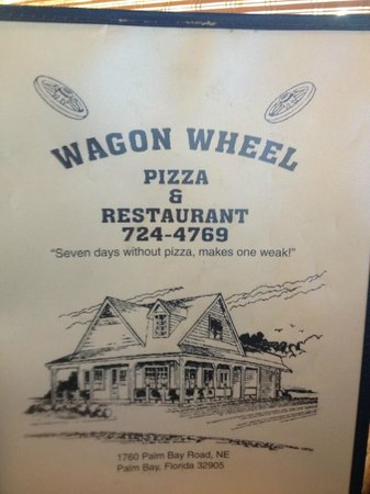 Wagon Wheel Pizza: Menu