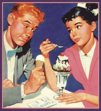 Larry's Olde Fashioned Ice Cream & Gelato : Old fashioned couple