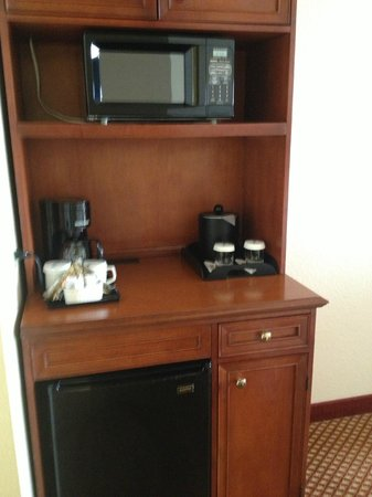 Hilton Garden Inn Anaheim/Garden Grove: Microwave and fridge