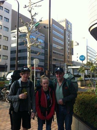 Smile Hotel Tokyo Nihombashi: Outside the Smile Hotel, April 2013
