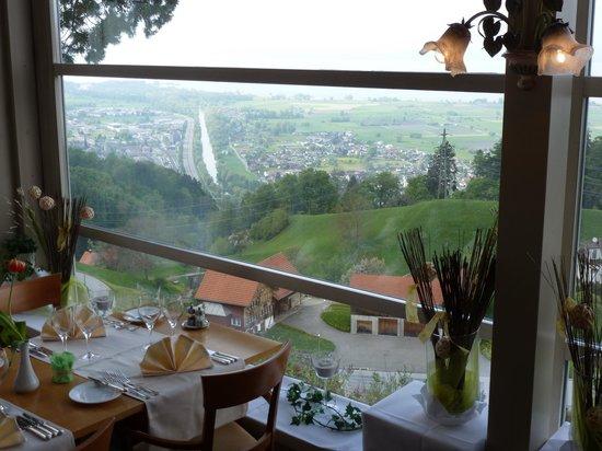 Swiss Dreams Hotel Walzenhausen: Blick aus dem Restaurant