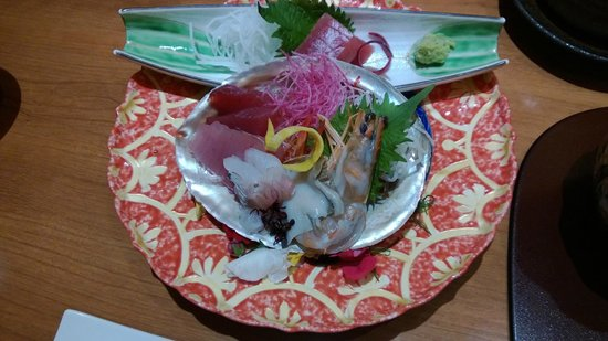 Hotel Nanpuso: one of the courses for the kaiseki