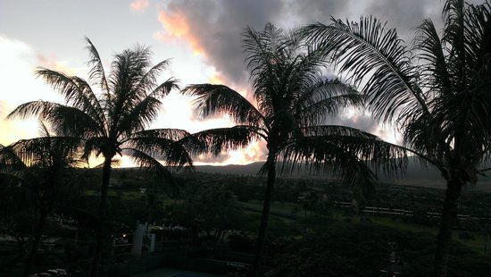 Aston at The Whaler on Kaanapali Beach: sunrise from lanai