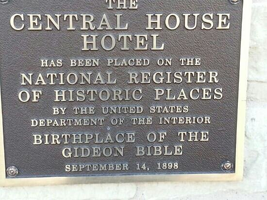 Central House: The Gideon Bible was born here!