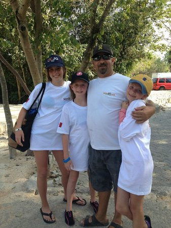 Maya Can Eco Tours: The girls with Barry - saying goodbye was not easy