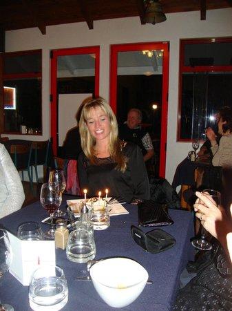 Waterfront Restaurant & Bar : My Birthday cake
