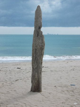 Nui Beach (Haad Nui): At Nui Beach with storm clouds to the west