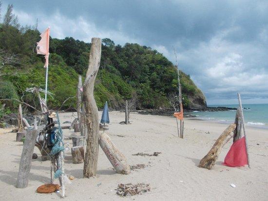 "Nui Beach (Haad Nui): View down the beach from ""Robinson's"" - the abandoned bar"
