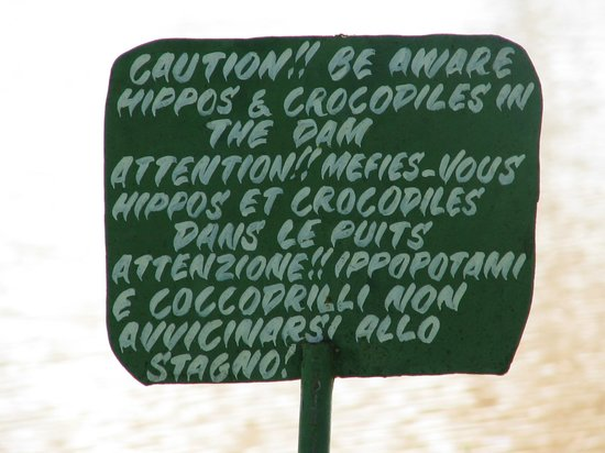 Bruno Safaris - Day Tours: Just for once take note of the sign, you wont come back from this one!!