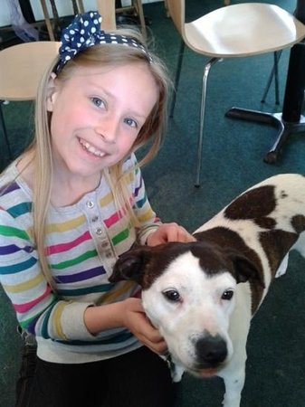 Annie's Tea Room: Mollie the dog with our daughter