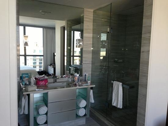 W South Beach: 1 of 3 washrooms in suite