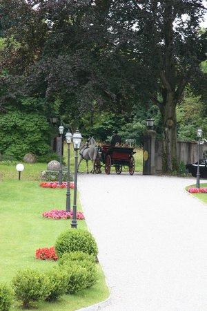 Hotel Schloss Mönchstein: Einfahrt Fiaker