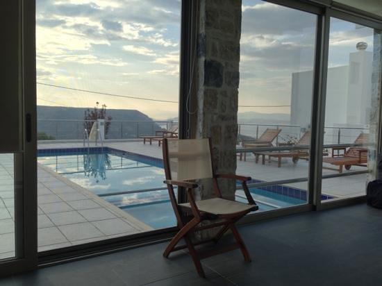 Lenikos Resort : vue de la réception le matin...