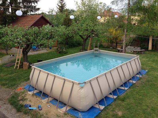 Diofahaz Vendeghaz: The new big swimmingpool at Diofahaz