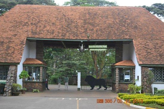 Nairobi National Park: Main Gate Entrance on Langata Road
