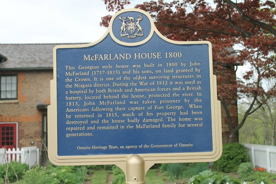 McFarland House: Historic Plaque, loads of history here!