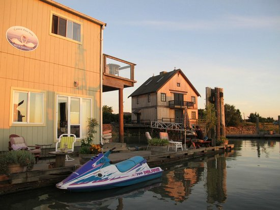 Canoe Pass Inn: les maisons flottantes