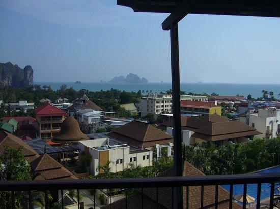 Aonang Cliff Beach Resort: Aussicht aus unserem Raum im 3. OG