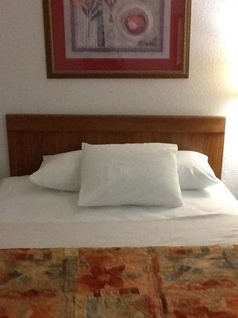 Super 8 by Wyndham Richmond: One of the queen beds