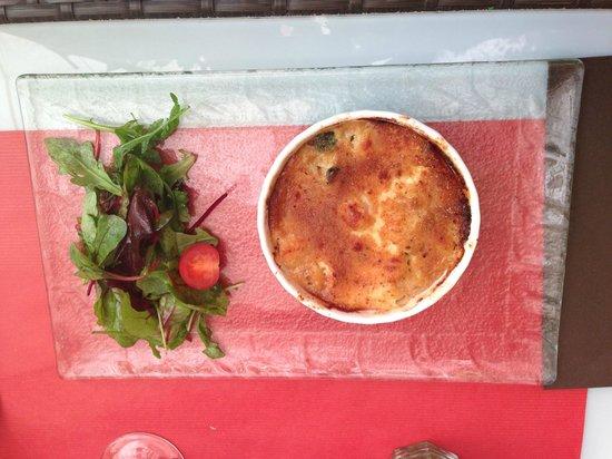 Au Flan Coco : Gratinée de st Jacques, au Gorgonzola