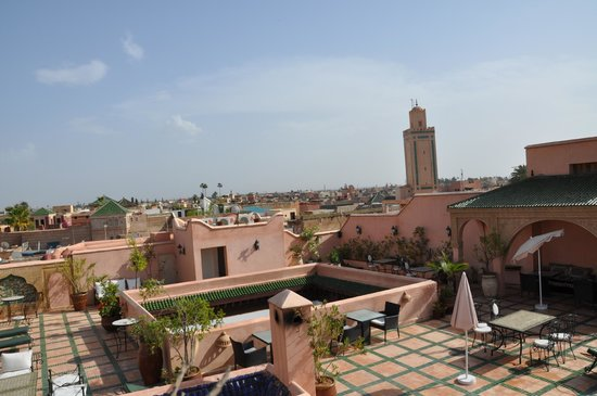 Riad & Spa Esprit du Maroc: la terrasse- certainement l'atout de ce Riad
