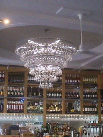 Chandelier made from wine glasses picture of all bar one brighton all bar one brighton chandelier made from wine glasses aloadofball