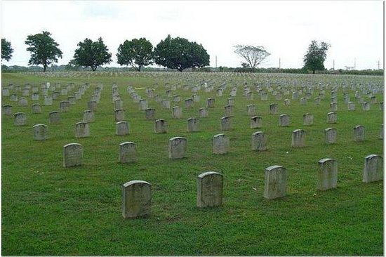 Pampanga Province, Philippines: View of cemetery