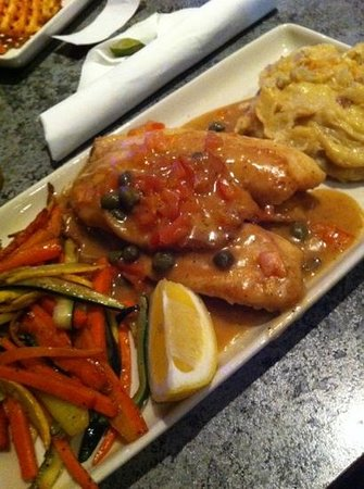 Shoeless Joes Ale House & Grille : Very tasty Tilapia Limone