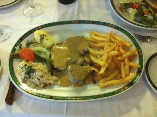Meson Antonio: Fillet steak with pepper sauce
