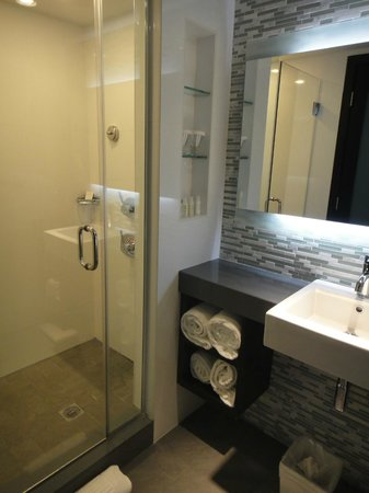 The Palms Hotel & Spa: One of 2 bathrooms: one with sink and shower
