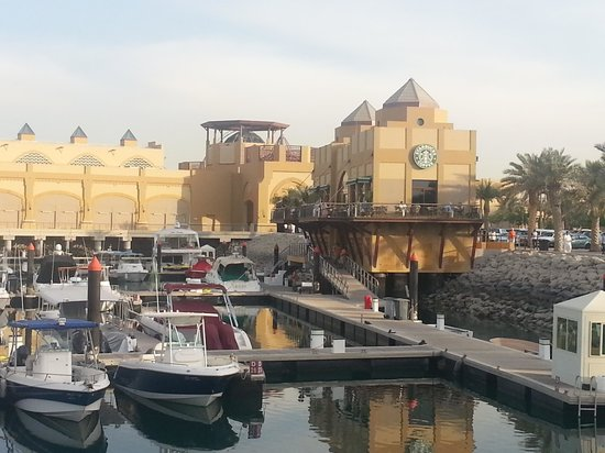 Al Kout Beach: Starbucks at Al Kout Mall marina