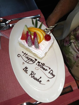 Siripanna Villa Resort & Spa: The beautiful inscription done by hotel staff.