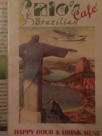 Rio's Brazilian Cafe: the menu