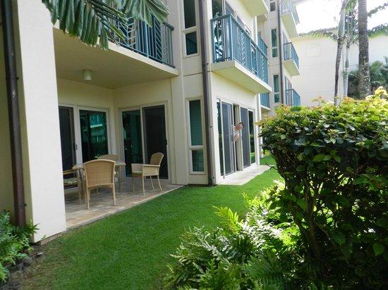 Waipouli Beach Resort: ground floor corner