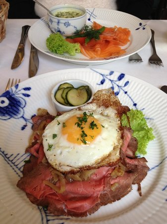 Restaurant Amalie: Les tartines locales : Smorrebrod