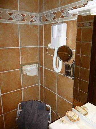 Hotel Restaurant Les Cedres : vue coté lavabo